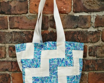 Sparkling sea inspired tote bag