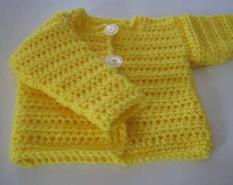 Little Yellow Sunshine Sweater for a Baby Boy or Girl
