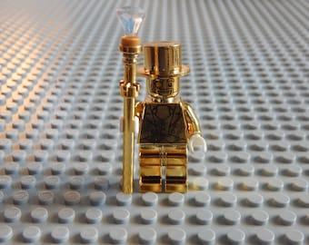 1 Mini Figure Mr. Gold custom, new
