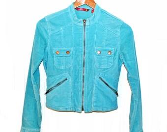 Turquoise Corduroy Jacket
