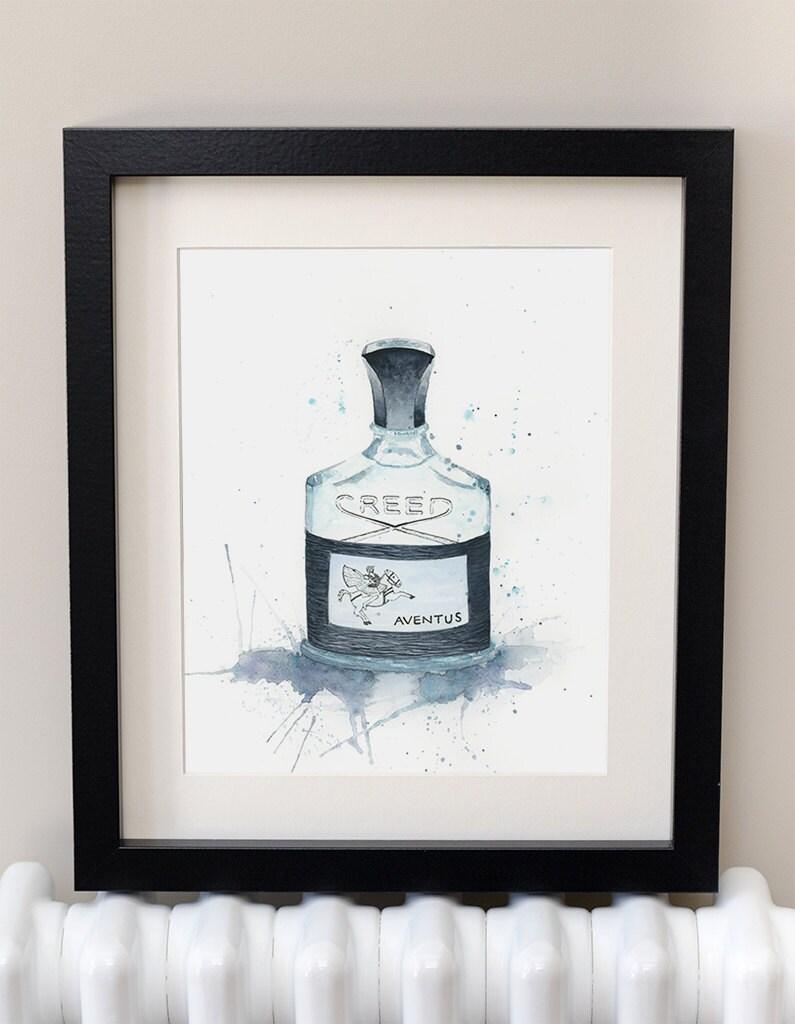 aventus creed fragrance mens gift mens bathroom art. Black Bedroom Furniture Sets. Home Design Ideas