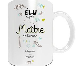 Mug to be personalized super master one of the year