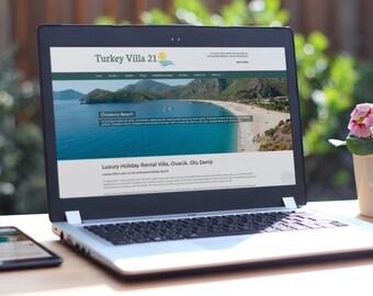 Web Design Service - 5 Page Custom Website Design Package Includes Content Management System & Blog
