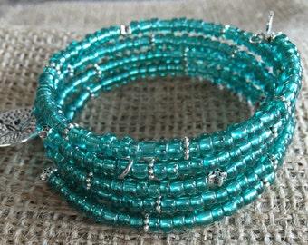 Memory wire bracelet