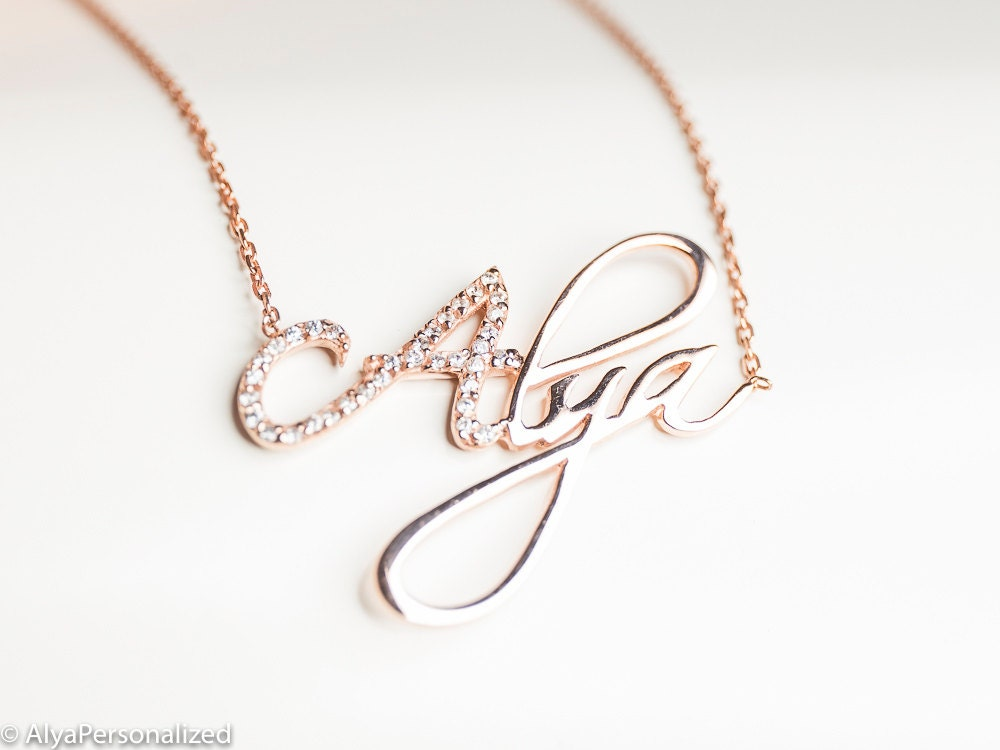 personalized name necklace personalized jewelry gold