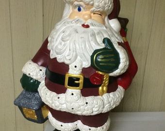 Santa ceramic figure