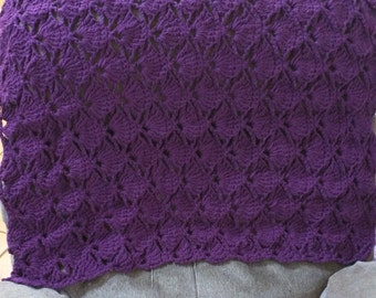 Handmade Chair Back Cover in Purple, Back of Chair Drape, Chair decoration, Home Decor, Gift
