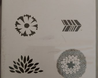 Stampin Up Sale-A-Bration Stamp Set, Petal Parade Set of 5