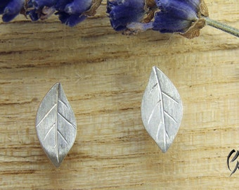Earrings silver, small autumn leaves