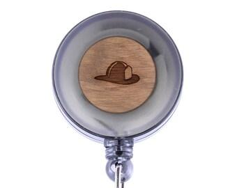 Fire Helmet Badge Holder with Retractable Reel, Badge Holder, Personalized Badge Holder, Corporate Gifts