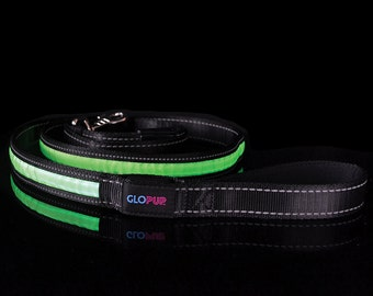 GLOPUP LED Dog Leash - 6 Feet - 3 Colors - Make Your Dog Visible & Safe