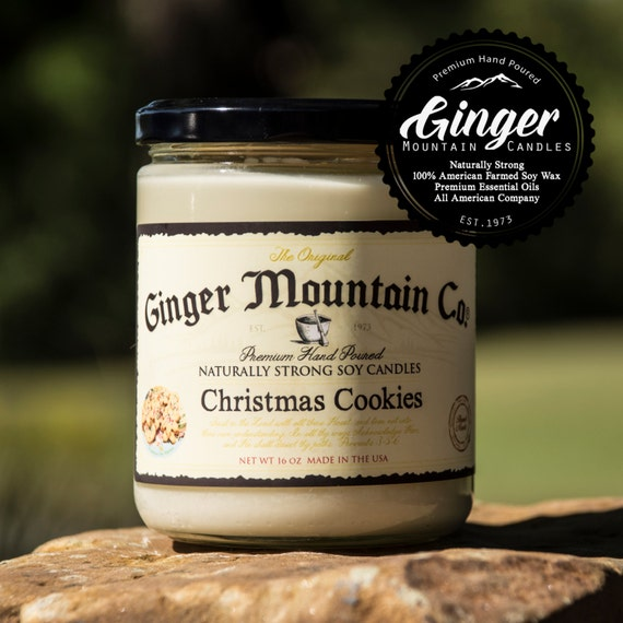 """Sugar Cookies """"Free Shipping"""" Scented Candle 16 Ounce Large  """"Strong Highly Scented"""" Double Wicked, Soy, Super Strong, Best Scented"""