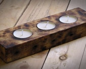 Tea candle holder from recycle pallet. Personal gift, unique, excluse, special idea for  birthday, anniversary. Handmade