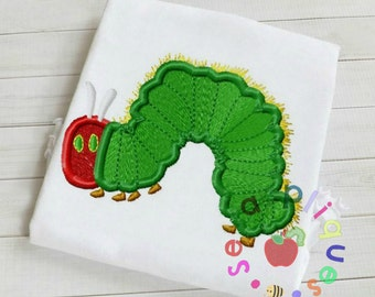 Caterpillar fill stitched embroidery design
