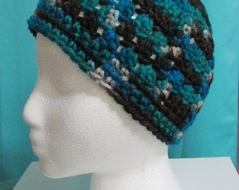 Multi-color Crochet Beanie Cap Hat