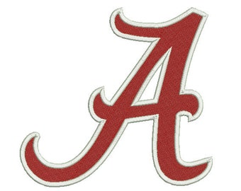 6 sizes Alabama Embroidery Design, A Logo Football Embroidery Design, Crimson Tide Machine Embroidery Pattern, Instant Download