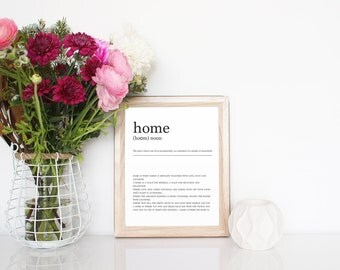 HOME DECOR PRINT - Beautiful home definition printable only