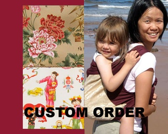 Mei Tai Baby Carrier - Custom - Red Straps