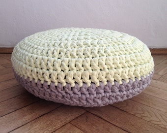 Items Similar To Cream Aran Chunky Knitted Ottoman Slip
