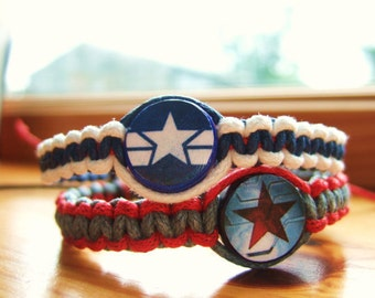Captain America Inspired Friendship Bracelets