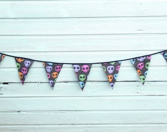 Halloween Skull Bunting