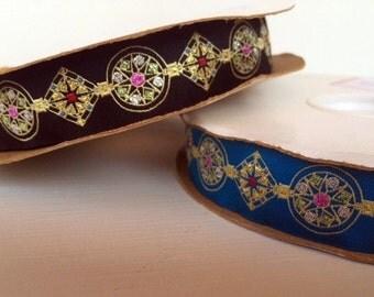 "7/8"" (23mm) gemmas jacquard ribbon"