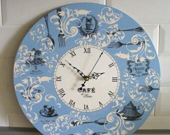 Wall Clock  16 inch / 40см Home Decor, Kitchen Wall Clock,  Handmade