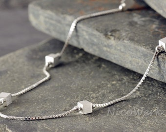 Silver necklace with pendant necklace ladies jewelry 925 Silver Chain gift 401