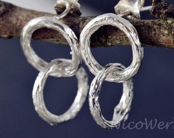 Silver earrings women's earrings jewelry earrings 925 gift SOR124