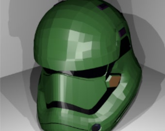 Star Wars storm  trooper helmet Ep7 replica pattern for papercraft pepakura to build your own