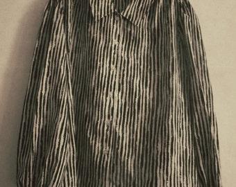 Vintage Black & White Stripped Number