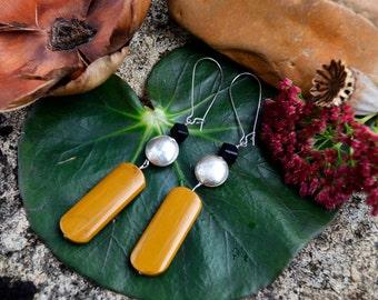 Jasper yellow earrings