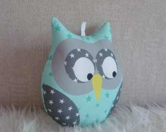 cushion OWL musical Mint to water starry