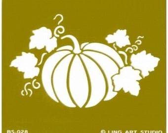 1 brass stamping 7 x 8 cm pumpkin stencil