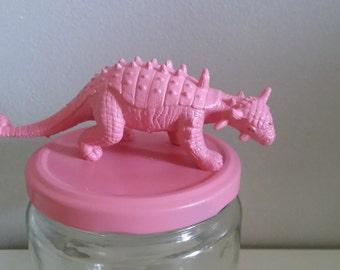 Jar pink pastel dinosaur