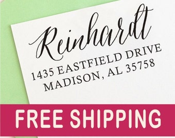 Address Stamp - Personalized Address Stamp, Custom Rubber Address Stamp. 1053