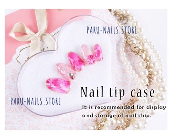 50% off Nail Tip display Case (heart)