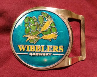 Wibblers Brewery limited edition belt buckle.