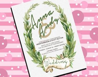 Greenery Spring Garden Wedding Invitation