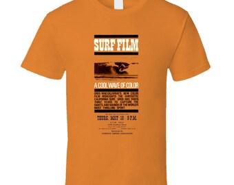 Vintage Surf T-shirt A Cool Wave Of Color Film 1964 Orange