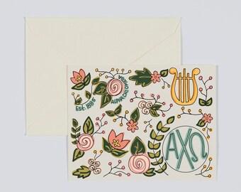 Alpha Chi Omega Sorority Greek Letters- Floral Design