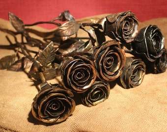Hand forged rose from Siberian Blacksmith