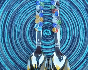 Beaded Serving Spoons