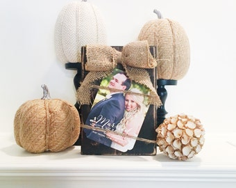 Hand crafted wooden picture block