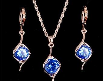 Gorgeous Blue Saphire Set