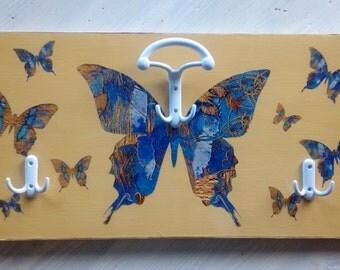 wooden clothe  hanger butterflies