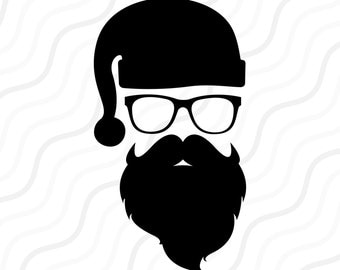 Hipster Santa SVG,Santa,Hipster SVG, Hipster Christmas SVG Cut table Design,svg,dxf,png Use With Silhouette Studio & Cricut_Instant Download