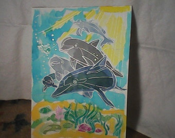 Watercolor Dolphins