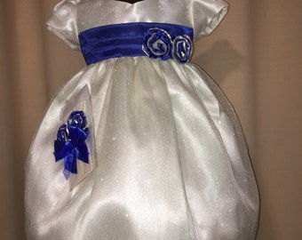 Flower Girls dresses, Presentation dress, ready to ship size T2