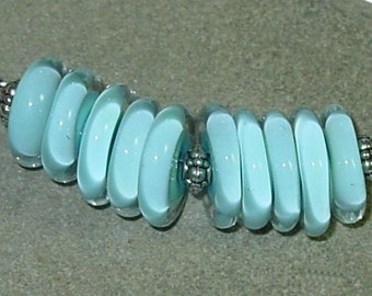 BHG  Limpet shell turquoise  discs
